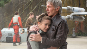 Harrison Ford comforts Carrie Fisher on hearing the news